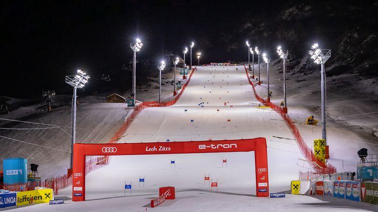 Le parcours du slalom parallèles dames de Levi, en Autriche, lors de la Coupe du monde 2020-2021 de ski alpin (JOHANN GRODER / EXPA)
