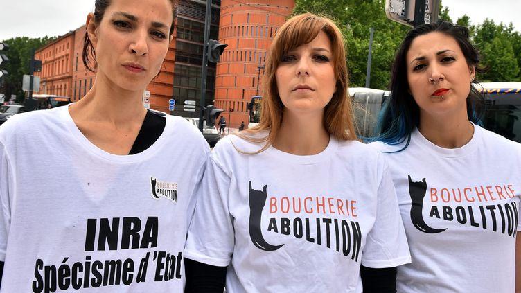 """L'association """"Boucherie Abolition"""" dénoncel'interpellation de plusieurs de ses membres (photo d'illustration). (THIERRY BORDAS / MAXPPP)"""