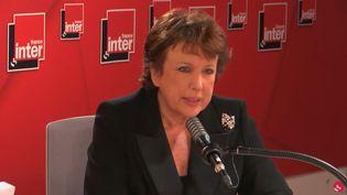 La ministre de la Culture Roselyne Bachelot sur France Inter lundi 18 octobre 2021. (RADIO FRANCE / FRANCE INTER)