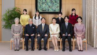 Photo des membres de la famille impériale prise le 12 décembre 2019. (HANDOUT / IMPERIAL HOUSEHOLD AGENCY / AFP)