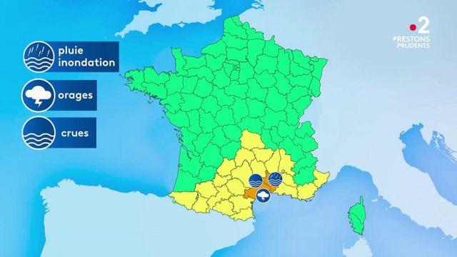 Météo : le Gard et l'Hérault placés en vigilance orange