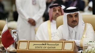 L'émir du Qatar Tamim Ben Hamad AlThani, le 11 novembre 2015 àRiyad (Arabie saoudite), lors d'un sommet international. (FAISAL AL NASSER / REUTERS)