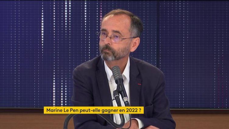 """Robert Ménard, maire de Béziers, était l'invité du """"8h30 franceinfo"""" le 9 septembre 2020. (FRANCEINFO / RADIO FRANCE)"""