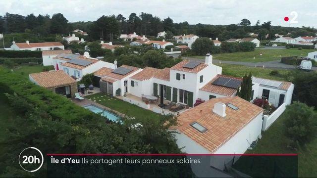 Environnement : sur l'Île d'Yeu, des panneaux solaires partagés entre les habitants