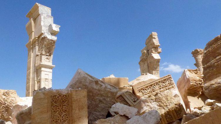 Photo de l'Arc de Triomphe à Palmyre, le 27 mars 2016  (Maher AL MOUNES / AFP)