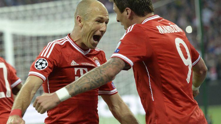 Arjen Robben (Munich) a marqué le second but de son équipe, lui offrant la victoire en finale de la Ligue des champions, samedi 25 mai. (CHRISTOF STACHE / AFP)