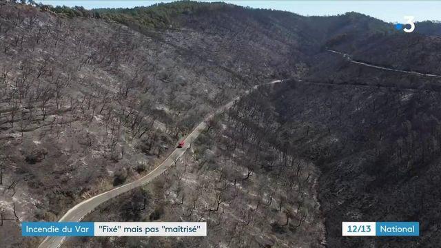 Dans le Var, le plus gros incendie de l'année dans le pays a parcouru au total 8 100 hectares de forêt et n'est pas encore maîtrisé.