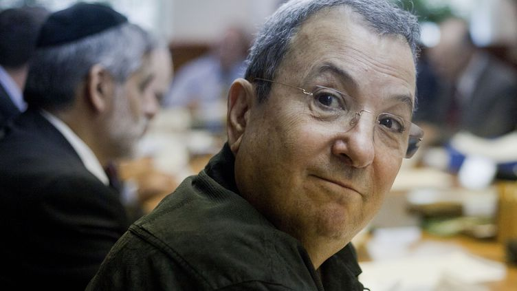 Ehud Barak, le 14 octobre 2012. (JIM HOLLANDER / AFP)