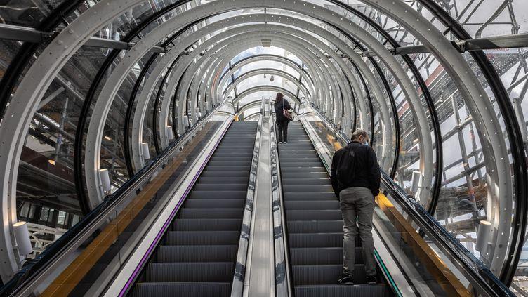"""La """"chenille"""" du Centre Pompidou (19 mai 2021) (SADAK SOUICI / LE PICTORIUM / MAXPPP)"""