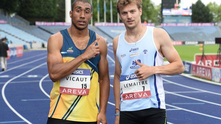 Jimmy Vicaut et Christophe Lemaitre, éternels rivaux sur le sprint français (STEPHANE KEMPINAIRE / STEPHANE KEMPINAIRE)