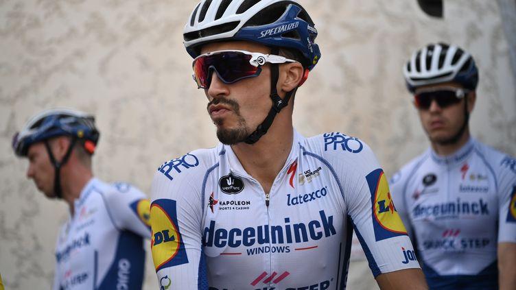 Julian Alaphilippe (Team Deceuninck) à Nice, le 27 août 2020, avant le départ du Tour de France 2020. (MARCO BERTORELLO / AFP)