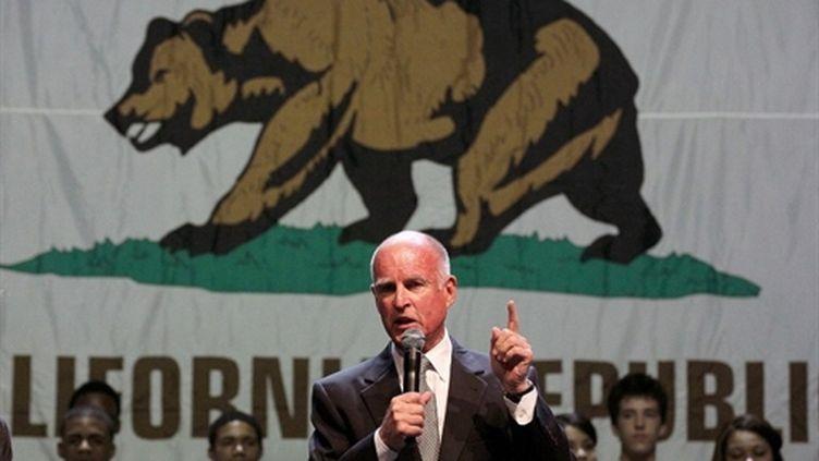Le démocrate Jerry Brown, qui va succéder au républicain Arnold Schwarzenegger comme gouverneur de Californie (Justin Sullivan - Getty Images - AFP)