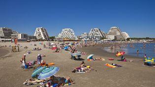 La plage de la Grande Motte, dans l'Hérault, le 17 juillet 2012. (GARDEL BERTRAND / HEMIS)