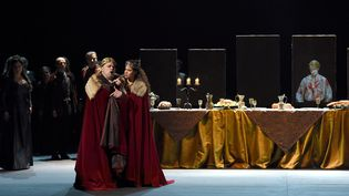 Roberto Frontali (Macbeth) et Sausanna Branchini (Lady Macbeth)  (Vincent Pontet)