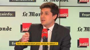 Julien Denormandie, ministre du Logement, invité sur franceinfo dimanche 3 février. (FRANCEINFO)