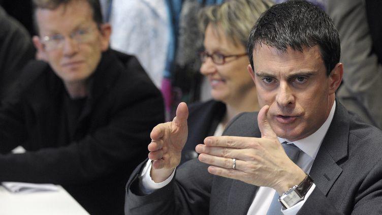 Manuel Valls le 9 janvier 2014 à Rennes (JEAN-SEBASTIEN EVRARD / AFP)
