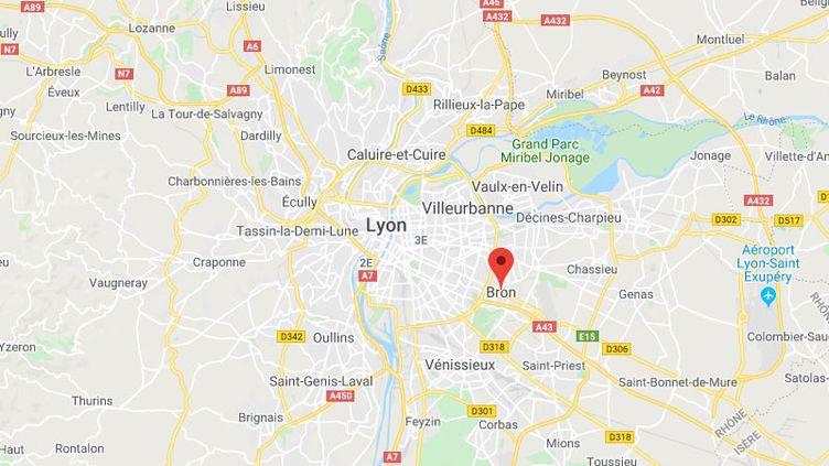Les faits se sont déroulés à Bron près de Lyon. (GOOGLE MAPS / FRANCETV INFO)