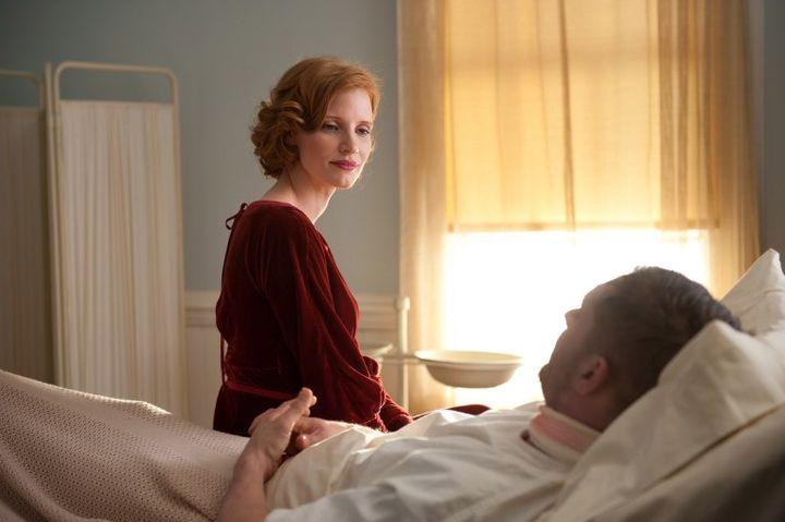"""Jessica Chastain, actrice américaine,et Tom Hardy, acteur britannique, dans """"Des Hommes sans loi"""", de John Hillcoat. (ARCHIVES DU 7EME ART)"""