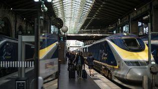 La circulation des Eurostar est très perturbée en gare du Nord à Paris. (YOAN VALAT / EPA)