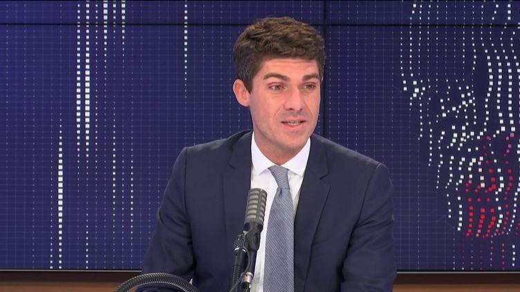 Aurélien Pradié, secrétaire général du parti Les Républicains.  (FRANCIENFO / RADIO FRANCE)