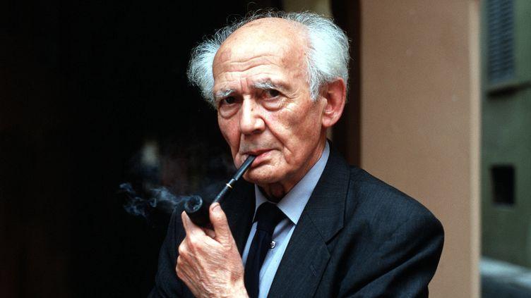 Le philosophe et sociologueZygmunt Bauman en 2001.  (LEONARDO CENDAMO / Leemage)