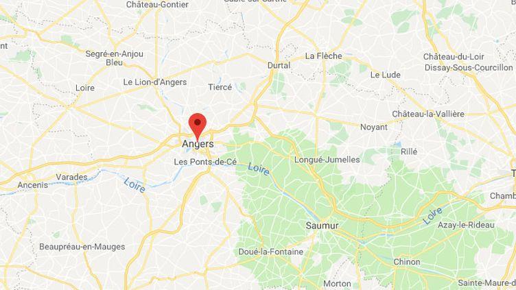 Angers, dans le Maine-et-Loire. (GOOGLE MAPS)