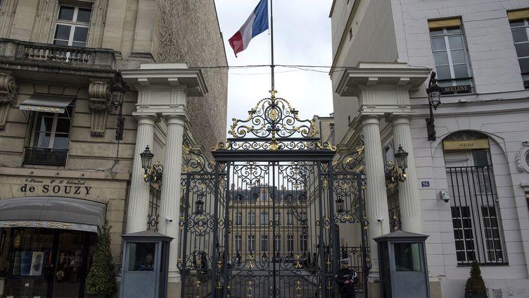 Le ministère de l'Intérieur, place Beauvau, à Paris, le 13 février 2018. (CHRISTOPHE ARCHAMBAULT / AFP)
