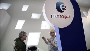 Image d illustration d'un stand du Pôle emploi au salon des entrepreneurs à Paris en 2015. (MAXPPP)