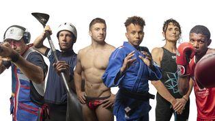 Six athlètes français qui découvrent la plus belle des compétitions nous racontent l'étincelle qui les y a conduits. (QUENTIN HOUDAS / FRANCEINFO)