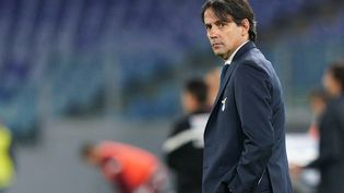 Simone Inzaghi, alors sous les ordres de la Lazio Rome contre le Torino, le 18 mai 2021 à Rome. (GIUSEPPE MAFFIA / NURPHOTO)