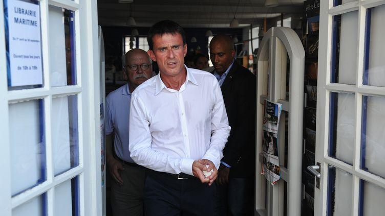 Le Premier ministre Manuel Valls à La Rochelle(Charente-Maritime) en marge de l'université du PS, le 29 août 2015. (XAVIER LEOTY / AFP )