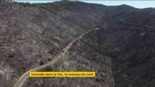 Le massif des Maures ravagé par les flammes (FRANCEINFO)