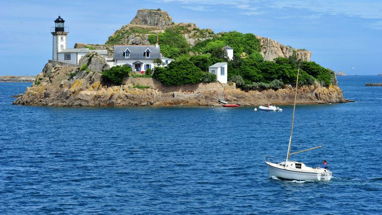 L'ile louet dans la baie de Morlaix (Finistère) peut se louer pour un weekend. (  MAXPPP)