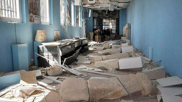 (Le musée de Palmyre détruit par Daech © AP SIPA)