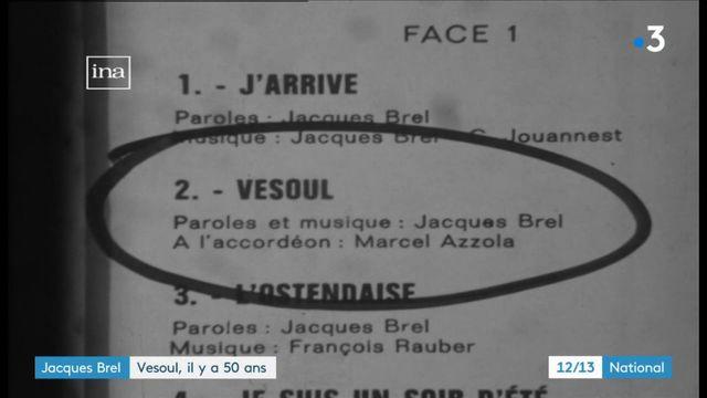 """Jacques Brel : sa chanson """"Vesoul"""" fête ses 50 ans"""
