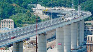 San Giorgio est le nouveau pont de Gênes, qui remplace le pont Morandi. (RICCARDO ARATA / MAXPPP)