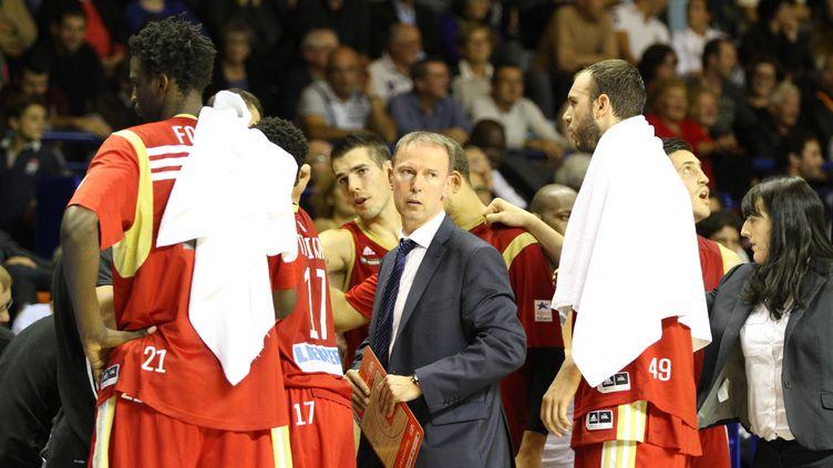 Les Strasbourgeois autour de leur coach Vincent Collet  (SENTUCQ JEAN-JACQUES / MAXPPP)