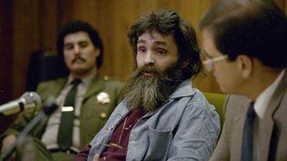 Le tueur en série américain Charles Manson, photographié en 1986. (AP/SIPA)