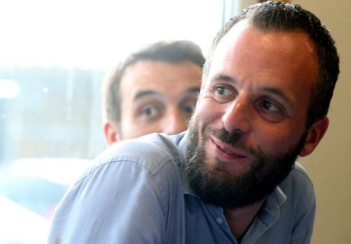 Damien Philippot, candidat dans l'Aisne, le 2 juin 2017. (FRANCOIS NASCIMBENI / AFP)