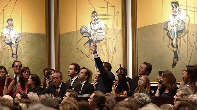 """""""Trois études de Lucian Freud"""" : un triptyque de Francis Bacon s'envole à 142,4 millions de dollars  (AP/SIPA)"""