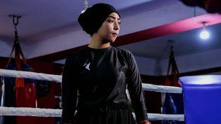 La boxeuse afghaneSeema Rezaï a quitté son pays et s'est réfugiée au Qatar. (Seema Rezaï)