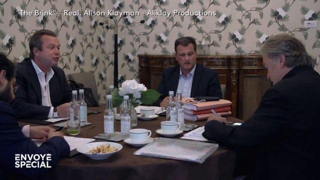 """Envoyé spécial. Le documentaire américain """"The Brink"""" montre les liens (financiers ?) entre le RN et Steve Bannon"""