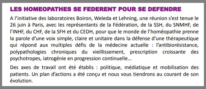 Extrait de la newsletter n°26 de l'INHF-Paris datée de juillet 2018. (INHF-PARIS)