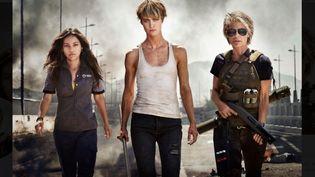 """""""Terminator : Dark Fate"""" et ses trois héroïnes, notamment Linda Hamilton (à droite) qui fait son retour dans la franchise. (TWENTIETH CENTURY FOX)"""