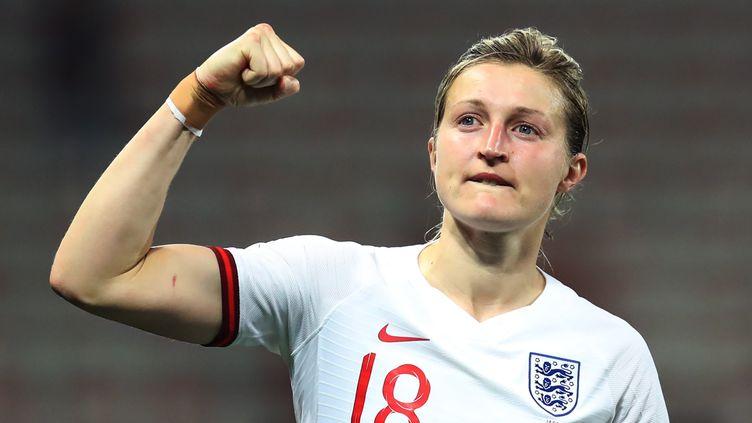 Ellen White, 30 ans, buteuse de la sélection anglaise. (VALERY HACHE / AFP)