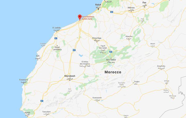 Le camp de Oulad Ziane, situé dans unquartier populaire de Casablanca, à l'Ouest du Maroc.  (C.R)