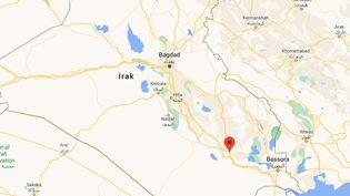 La ville de Nassiriya, dans le sud de l'Irak. (CAPTURE ECRAN GOOGLE MAPS)