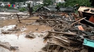Des inondations ont fait 26 morts et 15 disparus dans les montagnes du nord du Vietnam, début août 2017. (REUTERS)