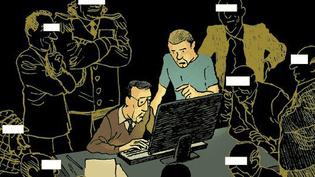 """Couverture de la bande dessinée """"Grandes oreilles et bras cassés"""", de Manach et Nicoby, publiée chez Futuropolis. ( DR )"""