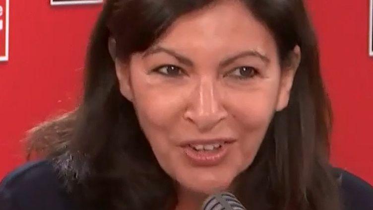 Anne Hidalgo, maire de Paris, sur France Inter le 4 juin 2020. (FRANCE INTER / RADIO FRANCE)